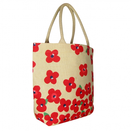 Sainsbury's RBL VE Day Juco Poppy bag